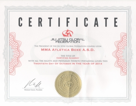 Certificazione JJGF: traguardo raggiunto!
